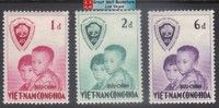 South Vietnam Stamps - 1956, Sc 59-61, short set, Operation Brotherhood - MLH, F-VF (9V06L)