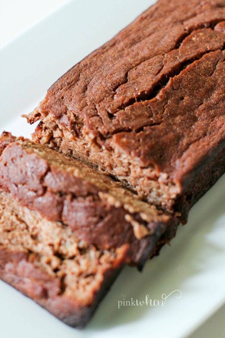 This skinny chocolate banana bread recipe is Gluten Free, Paleo, and a ...