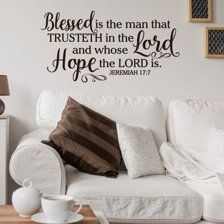 Images About Wall Words On Pinterest The Lord Vinyl Wall - How do u put up a wall sticker
