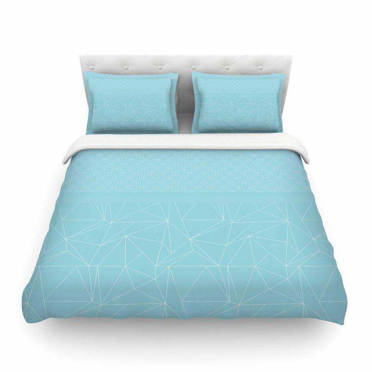 "Natura Wohndesign: Pia Schneider ""Blue Geometric Pattern"" Blue White Vector"