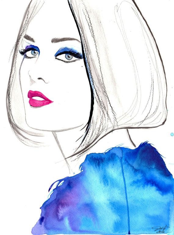 Modern Vintage, #watercolor by Jessica Durrant
