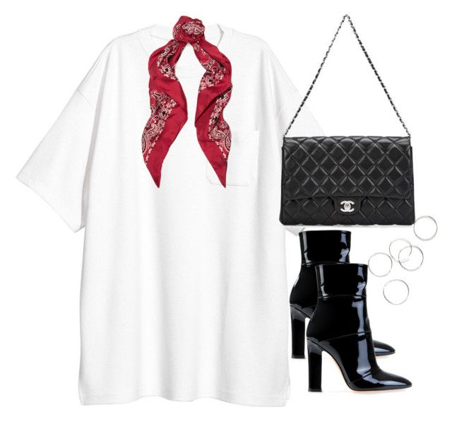 """Untitled #4256"" by theeuropeancloset ❤ liked on Polyvore featuring H&M, Yves Saint Laurent, Gianvito Rossi and Chanel"