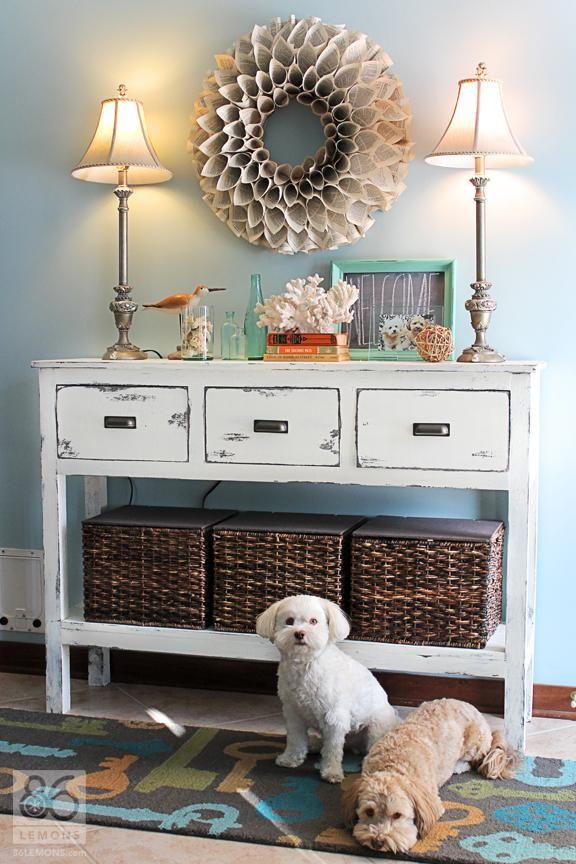 Entryway Table With Baskets 29 best narrow hallway decor images on pinterest | hallway ideas