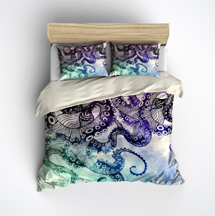 Lightweight Cream Octopus Bedding