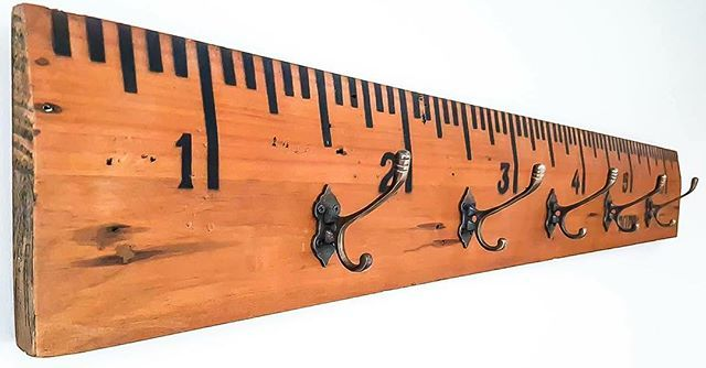 These stunning handmade coat hooks have a quirky edge to them – designed as a giant vintage ruler with Victorian style brass hooks, you can teach your kids all about metric/imperial conversions whilst getting them to tidy up after themselves too! -See more at: www.newtique.co.nz