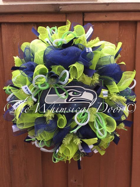 Hey, I found this really awesome Etsy listing at https://www.etsy.com/listing/190241743/seattle-seahawks-wreath-super-bowl