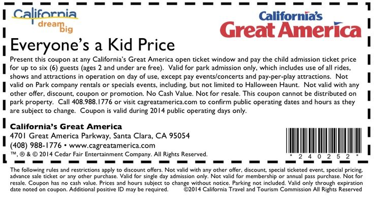 Like the free tickets, another incredible approach to get to the Great America is utilizing Great America promo codes. The Great America coupons can be obtained at the Amusement park, on their site, on different sites that offer the same codes and when one uses the Great America coupons, they get a rate of the ticket cost knocked off.
