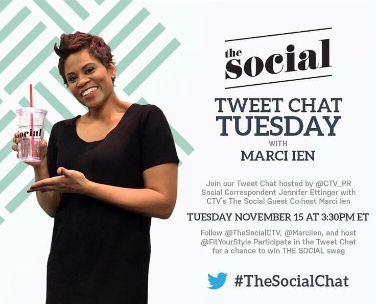 Tweet Chat Tuesday with Marci Ien #TheSocialChat