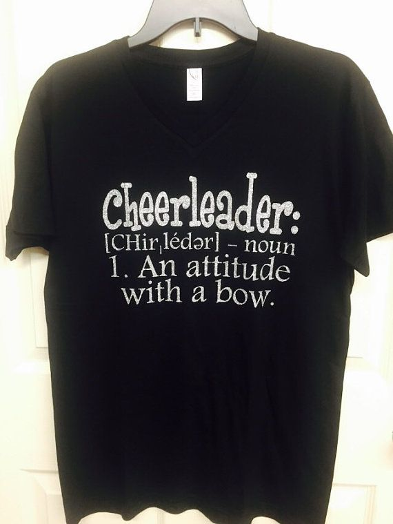 Cheerleader tshirt, cheerleading, girls shirts, cheerleading shirts, cheerleader-attitude with a bow. Funny tshirts, humor tshirts