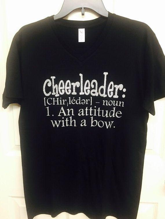 Cheerleader tshirt, cheerleading, girls shirts, cheerleading shirts, cheerleader-attitude with a bow. Funny tshirts, humor tshirts