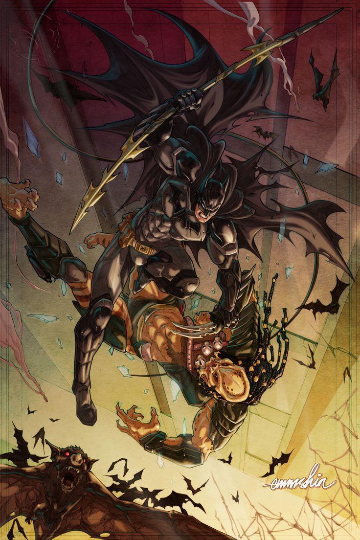 Batman Vs. Predator by emmshin.deviantart.com on @deviantART