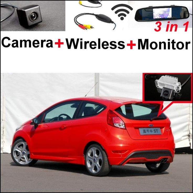 (74.02$)  Watch now - http://aik2o.worlditems.win/all/product.php?id=32802667555 - 3 in1 Special Rear View Camera + Wireless Receiver + Mirror Monitor Easy DIY Parking System For Ford Fiesta MK6 2008~2014