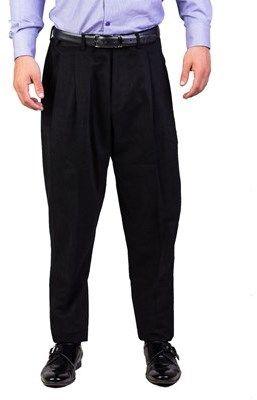 Christian Dior Men's Cotton Mc Hammer Fit Dress Trousers Pants Black.