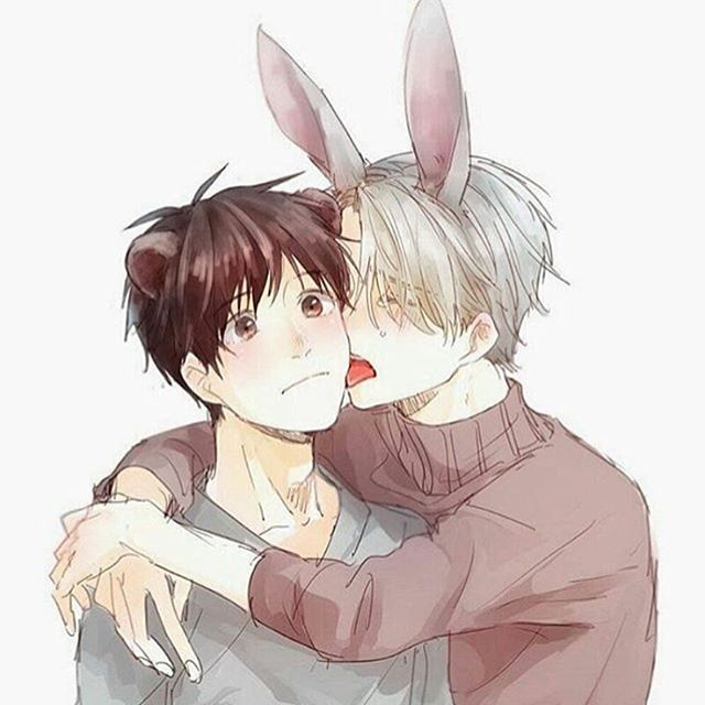 Aw cute*^* Credit to owner. #viktornikiforov #viktor #nikiforov #anime #yurionice #yuri #on #ice #yuurikatsuki #yuuri #katsuki #yuriplisetsky #yuri #plisetsky #yukonishigori #yuko #nishigori #toshiyakatsuki #toshiya #takeshinishigori #takeshi #nishigori #viktuuri #boyxboy #yaoi #fanart #yoi #funny #tumblr #meme #yurioxotabek #smut