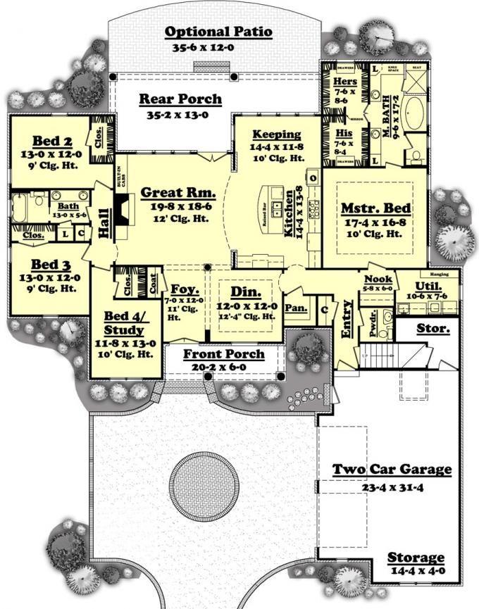 653181 adaline house plans floor plans home plans plan it - Patio Style Dream Home Plans