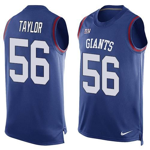 NFL New York Giants #56 Lawrence Taylor Royal Blue Team Color Men's Stitched NFL Limited Tank Top Jersey