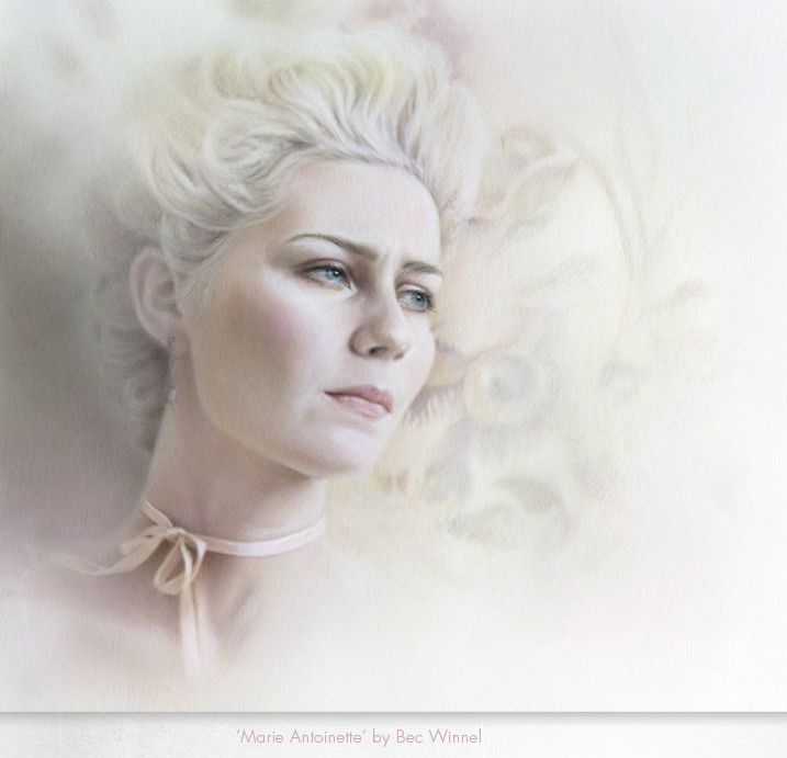 "I like the soft anf faded ffeeling as if the girl is thinking of something greater than she.   ""Marie Antoinette"" by Bec Winnel http://becwinnel.com/wp-content/files_mf/marieantoinette.jpg"