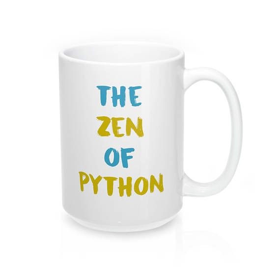 The perfect to remind you of the Zen of Python as you work #python #programminghumor #gifts #coding #giftideas #giftsforher #giftsforhim