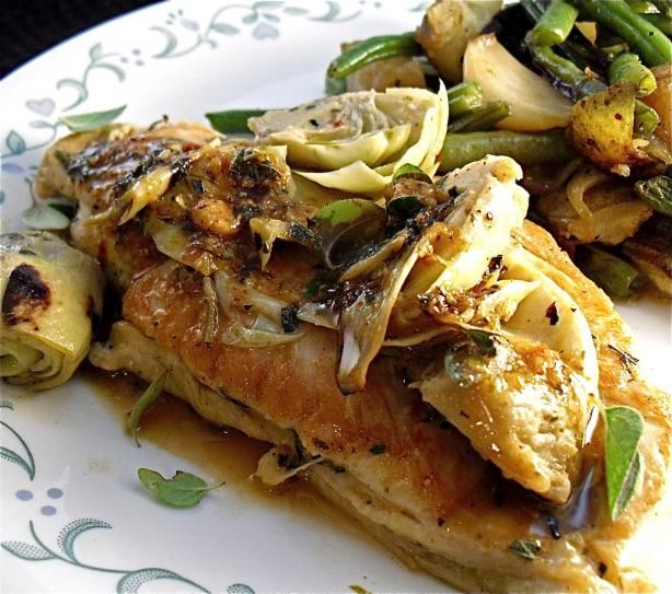 82 best greek with gusto images on pinterest cooking food greek braised greek chicken and artichokes forumfinder Choice Image