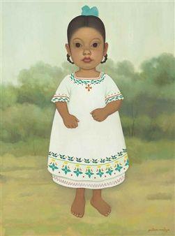 Niña mexicana By Gustavo Montoya ,1968