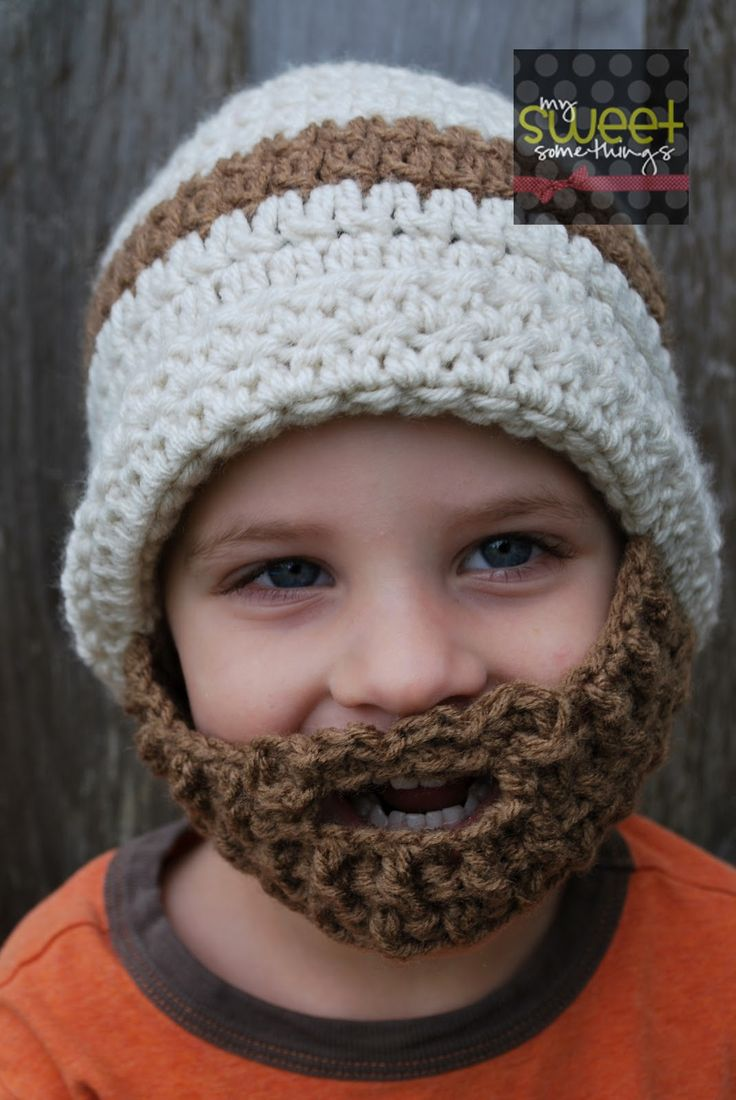 Bearded Beanie Crochet Pattern Free   My Sweet Somethings: Bearded Hat for Kids!