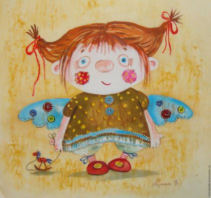 Купить или заказать Текстильный ангел ( батик панно) в интернет-магазине на Ярмарке Мастеров. горячий батик…