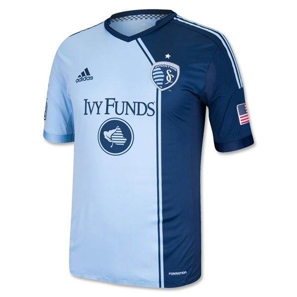 Sporting KC 2013 Authentic Primary Soccer Jersey $119.99