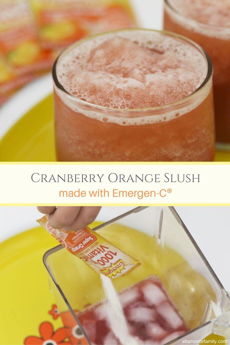 Make this refreshing Cranberry Orange Slush with a little help from Emergen-C®! #EmergenCRecipes [ad]