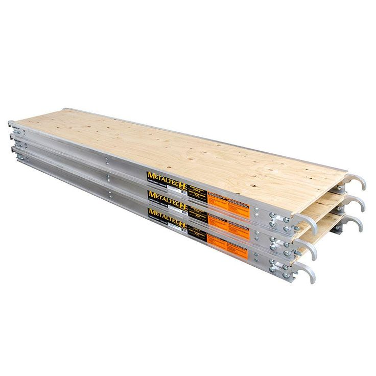 7 ft. x 19 in. Aluminum Scaffold Platform with Plywood Deck (3-Pack)