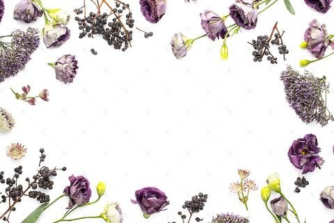 Styled Stock Purple Editorial Floral Collection #04