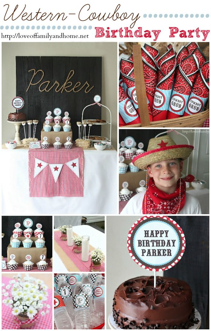 Cowboy Birthday Party Adorable Inexpensive ideas for