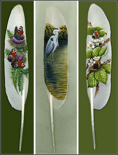 Мир Ирины Лем: Картины на перьях - древнее искусство народа маори
