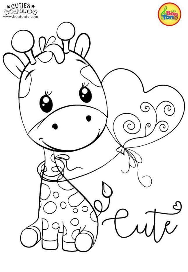 giraffe malvorlagen adultcoloringpages cuties malvorlagen