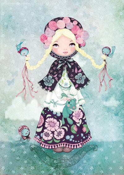 Baboushka du froid digital art Print by matilou on Etsy, $20.00