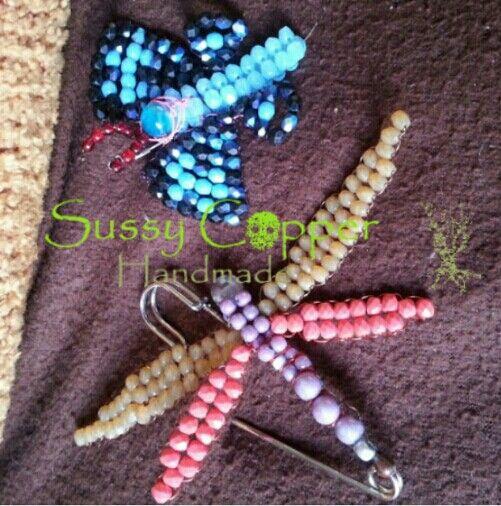 Mariposas y libelulas con facetadas de cristal checo