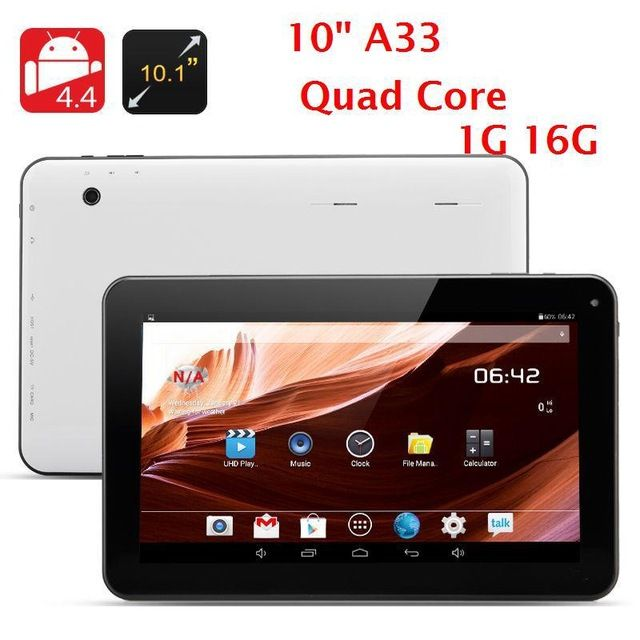 Quad core tablet pc 10 inch A33 Quad core Tablet pc 1GB +16GB Android 4.4 WIFI Dual Camera wifi Bluetooth OTG 1024*600 5000mAh US $63.99-77.99 /piece To Buy Or See Another Product Click On This Link  http://goo.gl/EuGwiH