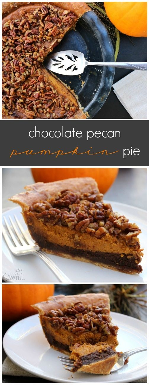 jeane blush parka Chocolate Pecan Pumpkin Pie