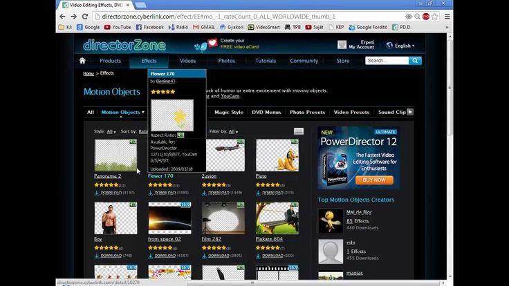 PowerDirector, kiegészítők letöltése  (4.)