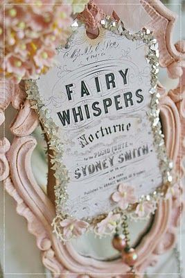 beautiful tag...: Idea, Craft, Fairies, Shabby Chic, Fairy Tales, Pink, Fairytales