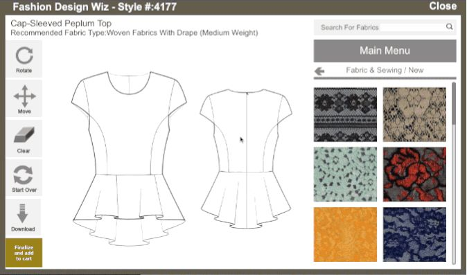 Check out the easiest fashion design software in the world. Imagine photoshop+illustrator+custom fit pattern making software, all in one. Get finished illustrations and custom sized patterns in minutes.  http://www.bootstrapfashion.com