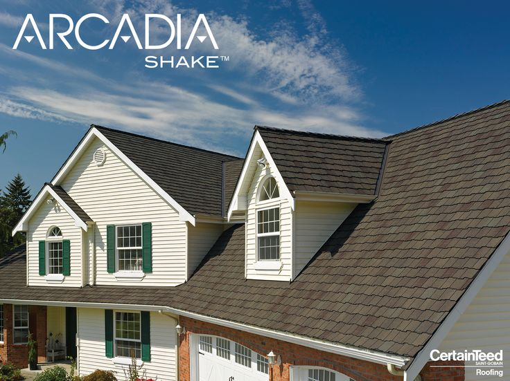Welcome To The New Standard In Premium Architectural Roofing: Arcadia  Shake™ From CertainTeed.