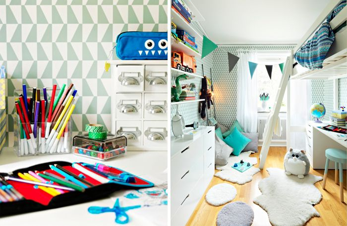 Great kids room.