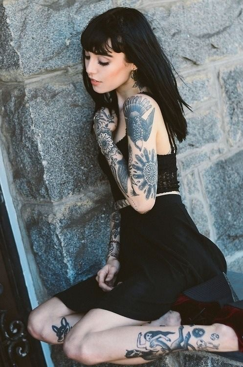 Tattoo gothic girl