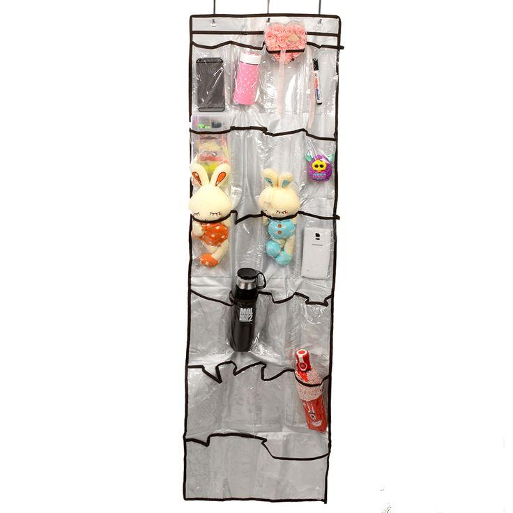 Новый накладки прозрачный 22 карманы чистка хранения висит сумка ткань игрушечную машинку организатор шкаф держатель двери купить на AliExpress