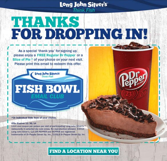 Free Dr Pepper or a Slice of Pie  Expires 12/30/2014 Longhorn steakhouse coupon http://www.pinterest.com/TakeCouponss/longhorn-steakhouse-coupons/