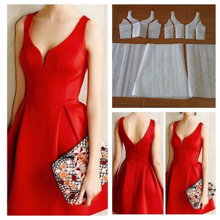 "102 Likes, 10 Comments - Jasa Pembuatan Pola Pakaian (@modellistepattern) on Instagram: ""Basic bustier dress pattern.  Order via line : @modelliste (with @)…"""
