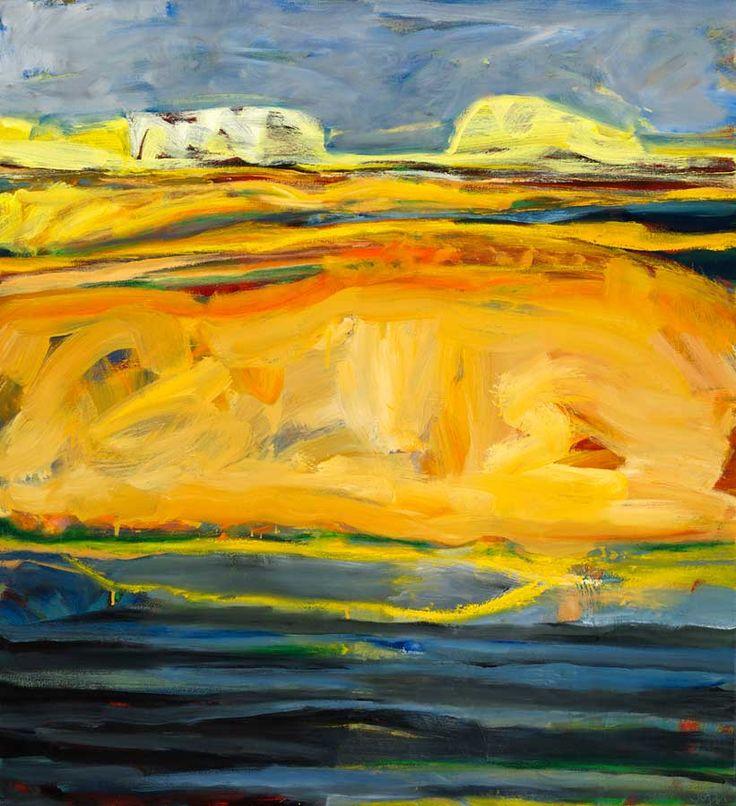 © Jo Bertini ~ Sandhill Series - Channel Tumbleweed ~ 2012 oil on canvas at Tim Olsen Gallery Sydney Australia