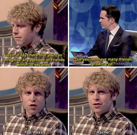 """And finally, when Josh Widdicombe was pretty much all of us. 