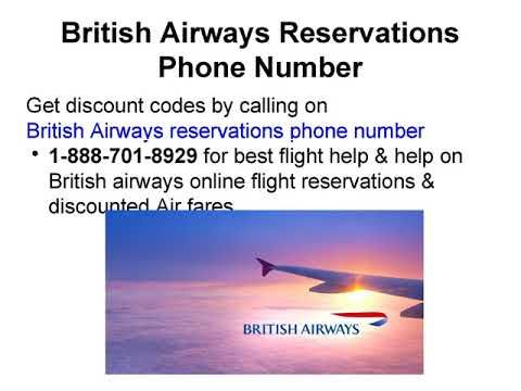 British Airways Reservations Phone Number   Booking Helpline