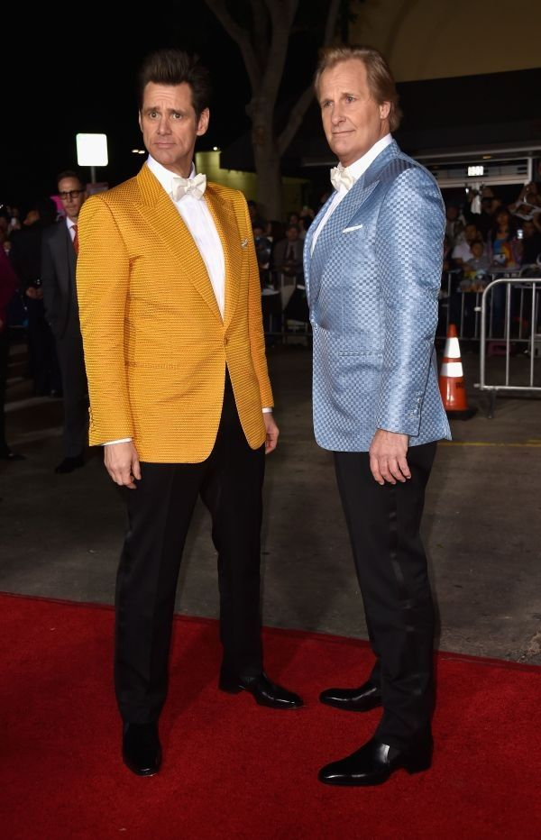 Lloyd and Harry reunite on the red carpet at Dumb and Dumber To premiere. This is awesome @carlycreson !!